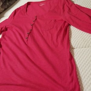 Red large Sonoma long sleeve round neck top